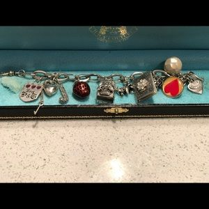 Authentic Juicy Couture Silver Charm Bracelet